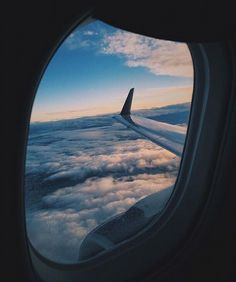 travel, airplane, and clouds image