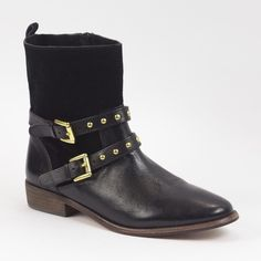 Coach Black Leather Booties So chic and perfect for any season! Look awesome with cutoff shorts. Like new condition with sticker residue to bottoms. No trades!! 032616220ccb Coach Shoes Ankle Boots & Booties