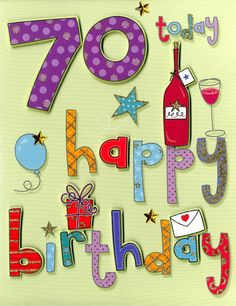 103 Best 70th Birthday Party Card Images