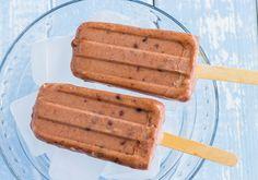 Sorvete de chocolate com whey protein