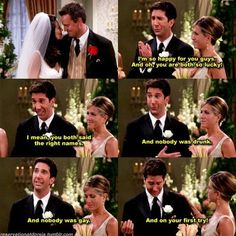 Ross' wedding woes - FRIENDS. @Leslie Mertz I thought of you when I saw this! :)