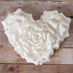 Heart Shape Rose - White