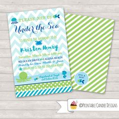 under the sea baby shower invitation ocean by