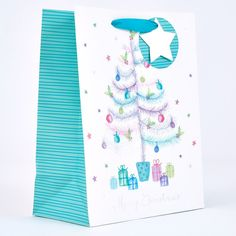 Mint Christmas Tree Large Gift Bag | Card Factory