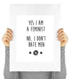 Yes I am a feminist quote modern poster girl by MyDaisyDownloads