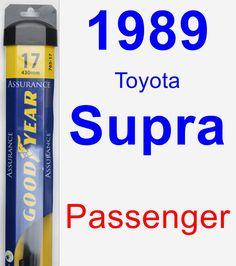 Passenger Wiper Blade for 1989 Toyota Supra - Assurance