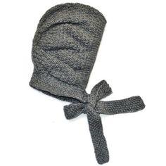 Achetez sur internet notre Bonnet béguin tricot rétro - gris TOCOTO VINTAGE l www.little-home.fr