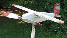 Folk Art AIRPLANE Whirligig 1920s Ryan M-1 M-2 Spirit of St Louis -Vtg MADE 1957