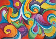 Tamara Leigh Jarvis-In the Swirls. Original Paintings (Watercolor)
