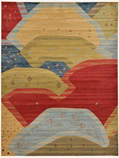 Red Kashkuli Gabbeh Area Rug
