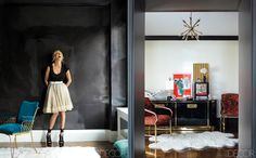 Jackie Astier in her NYC apartment
