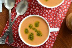 Indian-Spiced Cream Of Tomato Soup With Whole Wheat Couscous Recipe ...