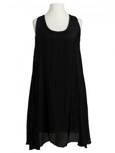 Damen Seidenkleid A-Form, schwarz von Spaziodonna bei www.meinkleidchen.de