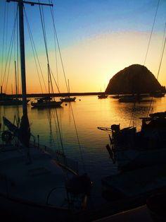 morro bay at sunset..  I wanna go here!!!