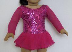 Magenta Sequins on Deep Pink Ice Skating Dress by DesignsforIce, $32.00