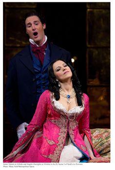 James Valenti and Angela Gheorghiu in La Traviata.