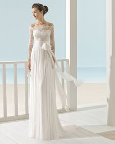 XENO vestido de novia Aire Barcelona Beach Wedding 2017