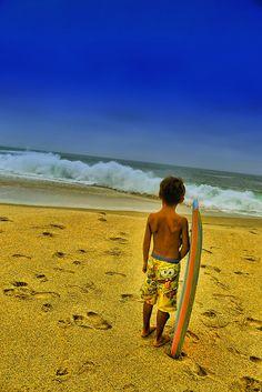 Laguna Beach, California. Summer-Surfer Boy