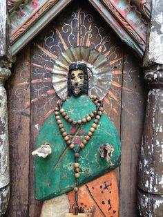 Spanish Colonial Folk Art Retablo Bulto Altar Nicho by Art4thesoul, $425.00