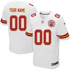 Nike Kansas City Chiefs Mens Customized Elite White NFL Jersey