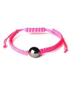 pearl. love. Pink Single Pearl Macrame Bracelet $50