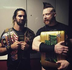 WWE World Heavyweight & United States Champ Seth Rollins & Mr. Money in the Bank Shemaus
