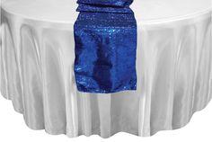 guest table royal blue runner | Royal Blue