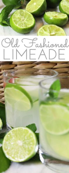 Old Fashioned Fresh Squeezed Limeade Recipe: lime juice combines w/sugar in this easy recipe for a refreshingly sweet tart summer sipper for all to enjoy! # Easy Recipes for 1 Old-Fashioned Fresh Squeezed Limeade Recipe Refreshing Drinks, Summer Drinks, Fun Drinks, Healthy Drinks, Dinner Healthy, Juice Drinks, Non Alcoholic Drinks, Cocktail Drinks, Fresh Limeade Recipe