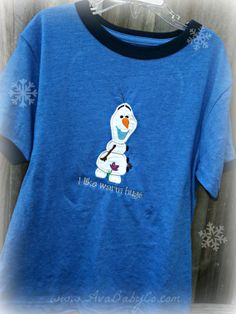 Disney Frozen Olaf Inspired Embroidered Shirt for by AvaBabyCo, $18.00