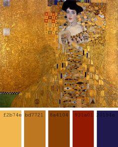 """Paleta de color """"Retrato de Adele Bloch"""", Gustav K..."""