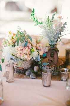 Wooden table number - North Carolina Wedding from Caroline Ghetes Photography Reception Decorations, Wedding Centerpieces, Wedding Bouquets, Wedding Flowers, Centrepieces, Rustic Centerpieces, Diy Wedding, Rustic Wedding, Wedding Venues