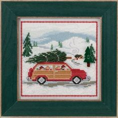 Family Tree Button & Bead Cross Stitch Kit