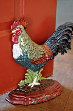 Rooster Door Stop. Not sure this is an antique, but he sure is neat!