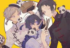 Manga Anime, Anime Art, Besties, Dog Frames, Gekkan Shoujo Nozaki Kun, Fandoms, Bongou Stray Dogs, Classic Literature, Jojo's Bizarre Adventure