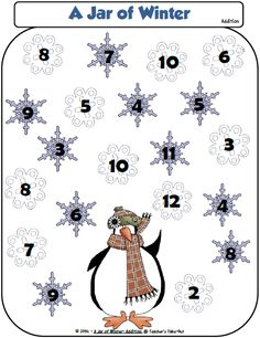 A Jar of Winter -Addition Game Freebie - Teachers Take-Out