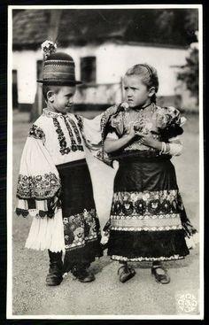 Postcards For Sale, Hungary, 1930s, Monochrome, Folk, Costumes, Couple Photos, Couples, Children