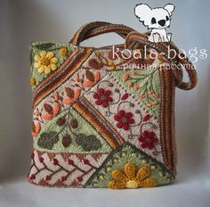 Knitted tote-bag