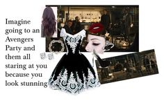 Imagine going to an Avengers Party and them all staring at you because you look stunning by mrsbcumberbatch on Polyvore featuring ALDO, Marchesa, Lime Crime, Quiksilver, imagine, beautiful, party, Avengers and fandom