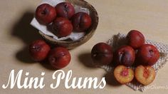 Cute, Realistic Miniature Plums - Polymer Clay Tutorial