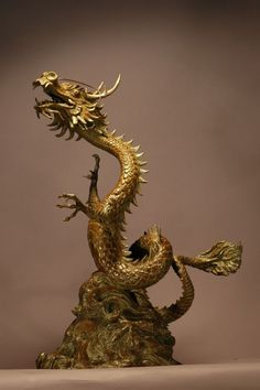 'Lucky Dragon (Writhing Oriental Chinese statue)' by Kathleen Friedenberg