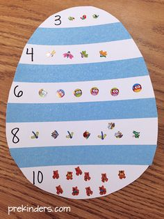 preschool Try this Easter Counting Activity for your pre-k students to practice counting skills with stickers. Also, find more Easter Activities here. Prepare the Easter Counting Activity To prepare the activity, cut a large egg shape out of April Preschool, In Kindergarten, Preschool Activities, Counting Activities, Easter Art, Easter Crafts For Kids, Easter Crafts For Preschoolers, Easter Activities For Children, Spring For Preschoolers