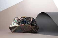 Mother of pearl lining clutch from SERPUI