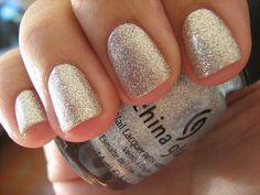 sparkling glitter nails