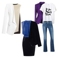"""""""Blazer is universal!"""" by josehline on Polyvore featuring PINGHE, T By Alexander Wang, ESCADA, Pepe Jeans London, Alice + Olivia and White House Black Market"""