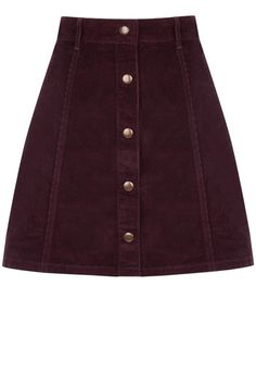 Cord Button Mini Skirt