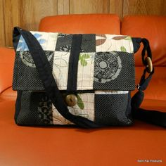 100 Cotton Sling Crossbody Bag Shoulder by BenThaiProducts on Etsy, $15.99