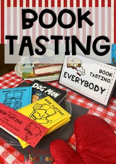 These fun Book Tasting activities for your elementary library or classroom will help students learn about new books and genres. Includes printable signs, bookmarks, booklet menus, and tips and ideas f Library Organization, Library Ideas, Book Tasting, Reading Motivation, Elementary School Library, Library Skills, American History Lessons, Library Activities, School Librarian
