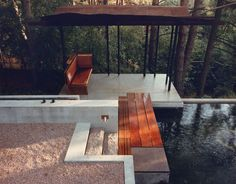 Garden Pavilion and Reflecting Pool, Toronto, Canada, 1988 by Shim-Sutcliffe Architects (EV 1995). Image © Shim-Sutcliffe Architects. Photo James Dow
