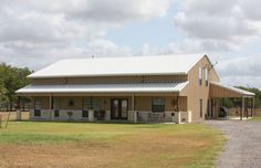 Beautiful Full Metal Barndominium Home w/ 3 Porches! (HQ Pictures) | Metal Building Homes