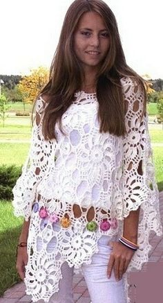 urban style crochet poncho patterns - Google Search